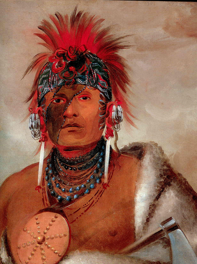 Wa-hon-ga-sheeKansas-Kaw tribe By Catlin1832(1)