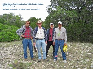HCAA Survey Team Standing in a Lithic Scatter Feature, Gillespie County