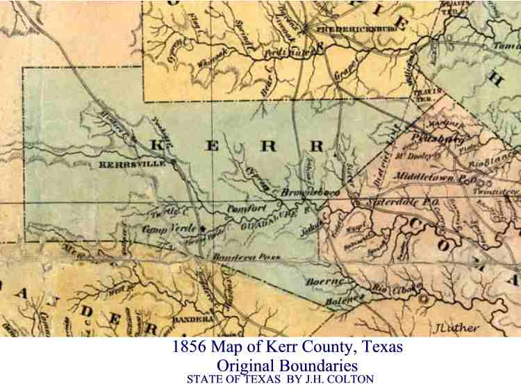 Map Of Texas Hill Country Cities.Maps In History Hill Country Archeological Association